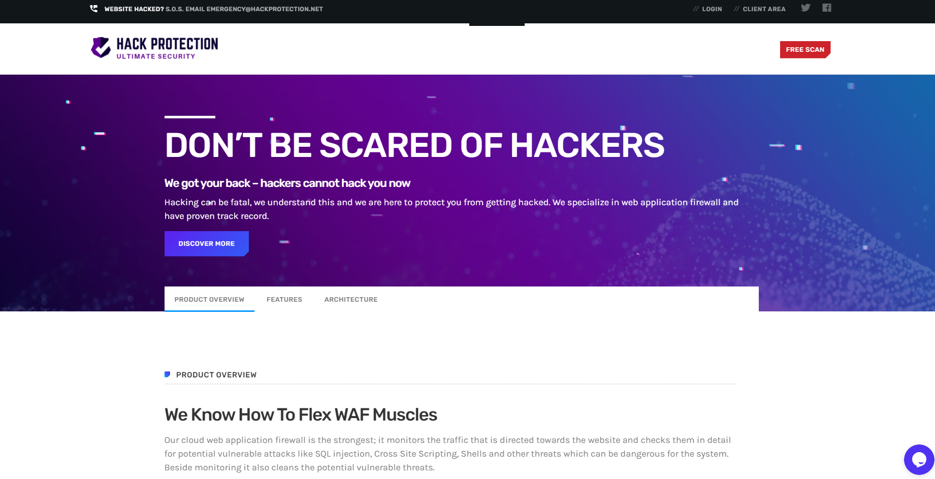 WAF Protection hack protection