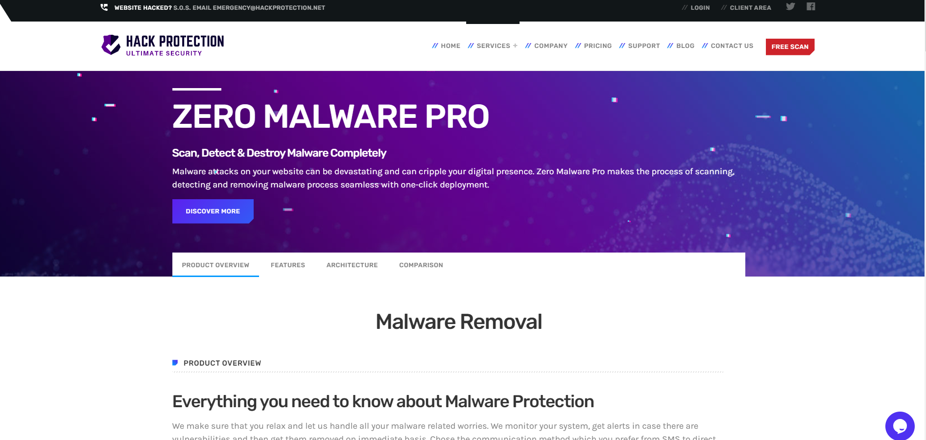 Hack protection malware removal